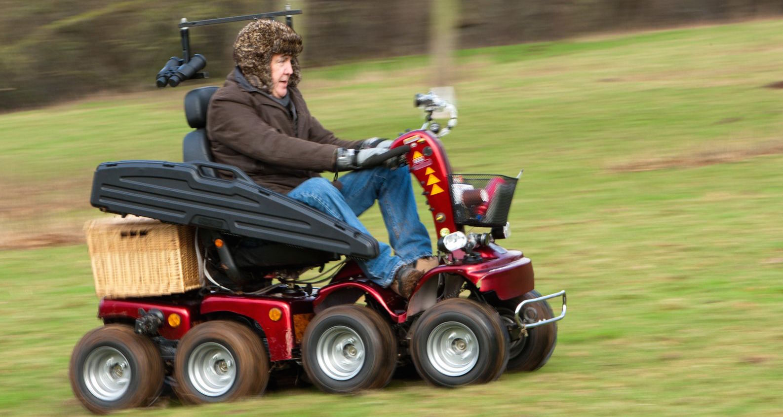 Jeremy Clarkson on one of three Mobility Scooters created for Top Gear and now in Beaulieu Motor Museum (Full Size)