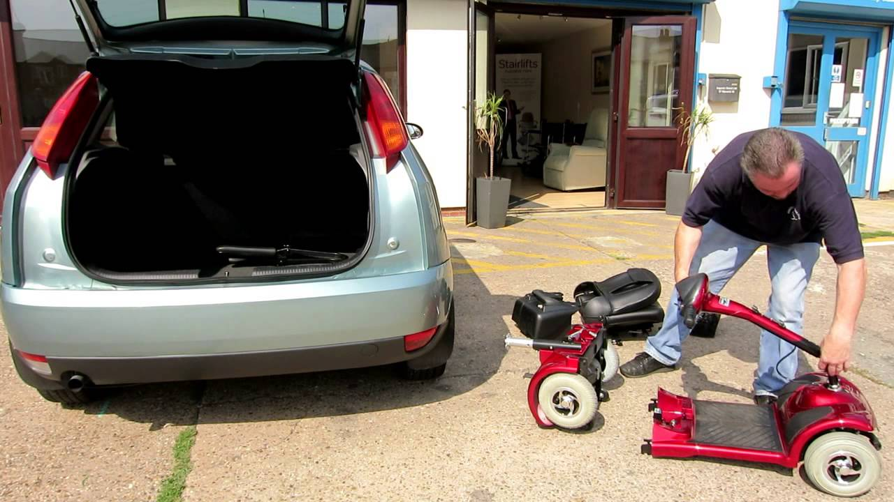 Dismantling and Folding a Boot or Travel Mobility Scooter into a car (Full Size)