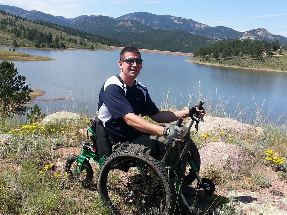 Mountain Trike user Bryan Keene from Colorado enjoying his off-road Mountain Trike (Full Size)