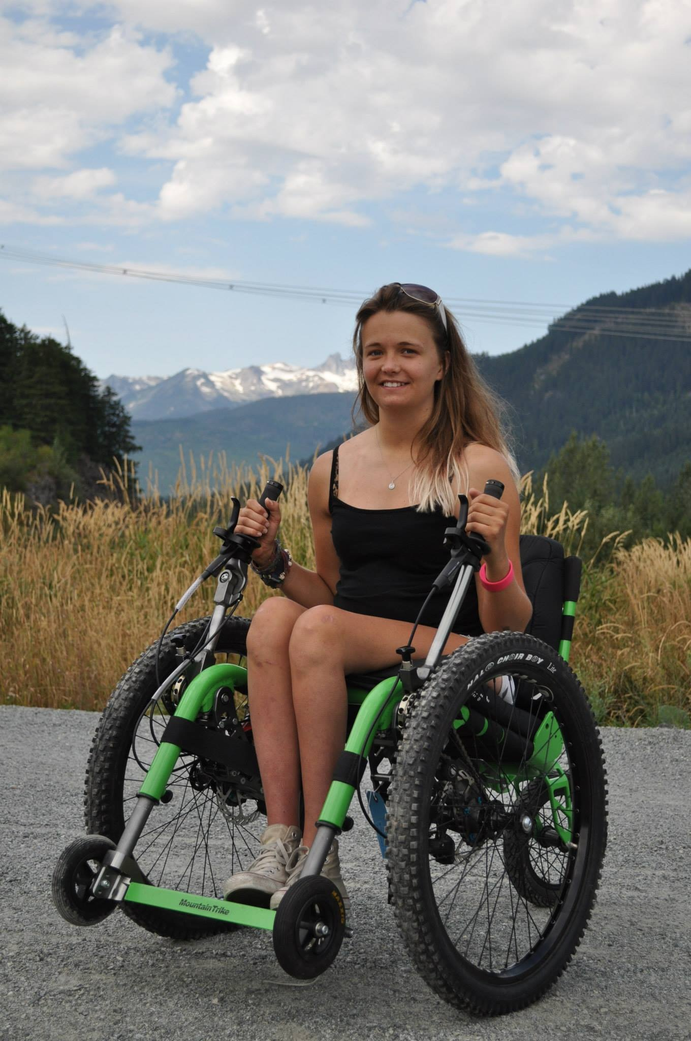 Mountain Trike user Laura May enjoying her cross country Mountain Trike (Full Size)