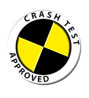 Wheelchair crash test logo label (Full Size)