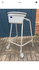 Walking frame with wheels and tray