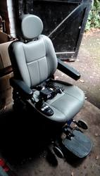 Pride Jazzy Select electric wheelchair, blue - click to zoom