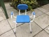 Perching Stool with Padded Arms, Seat and Back