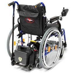 BRAND NEW FOLDING DUAL CONTROLLED ELECTRIC WHEELCHAIR - click to zoom