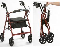 Lightweight Rollator Folding Alluminum 4 Wheeled Walker - Drive Medical - click to zoom