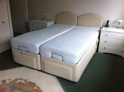 Electrically Adjustable Linked Beds - click to zoom