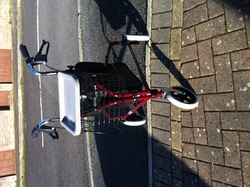 Compact folding walker - click to zoom