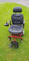 Electric Wheelchair Shoprider Vienna, Red - click to zoom