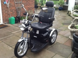 Sports rider mobility scooter - click to zoom