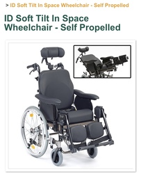Tilt in space self propelled wheelchair.  - click to zoom