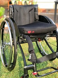 RGK Tiga Aluminium Lightweight Wheelchair with Spinergy Light Extreme Wheels - click to zoom