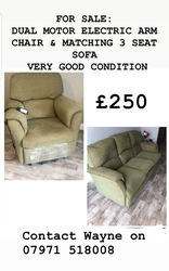 Reclining chair and matching sofa - click to zoom