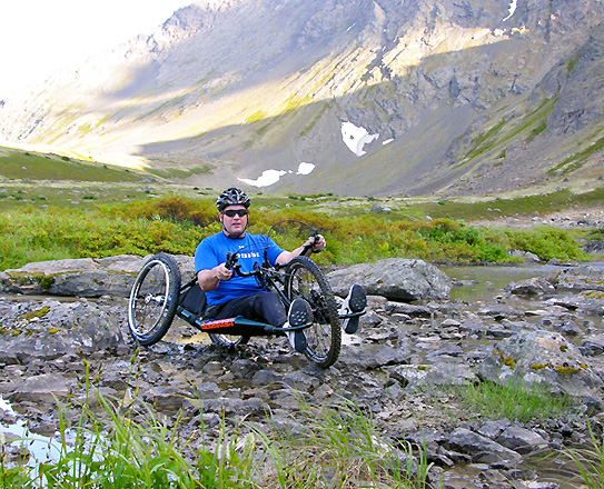 Lashersport's All Terrain Handcycle (ATH) off the trail (Full Size)